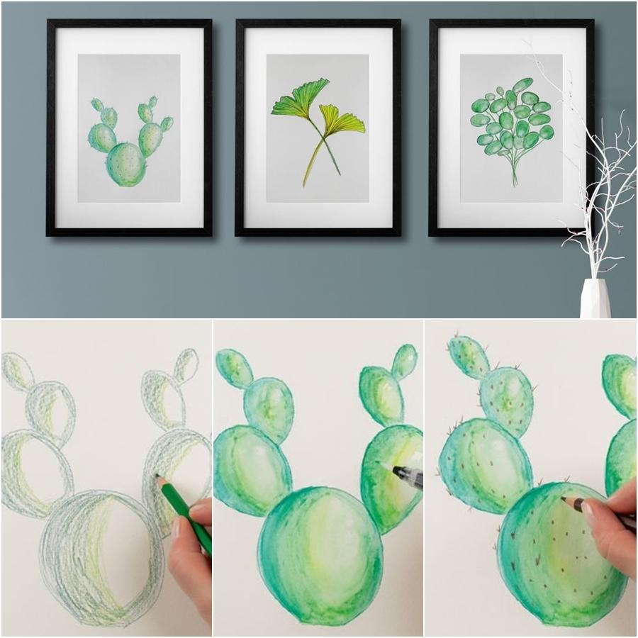 3 Bilder mit Botanik-Motiven