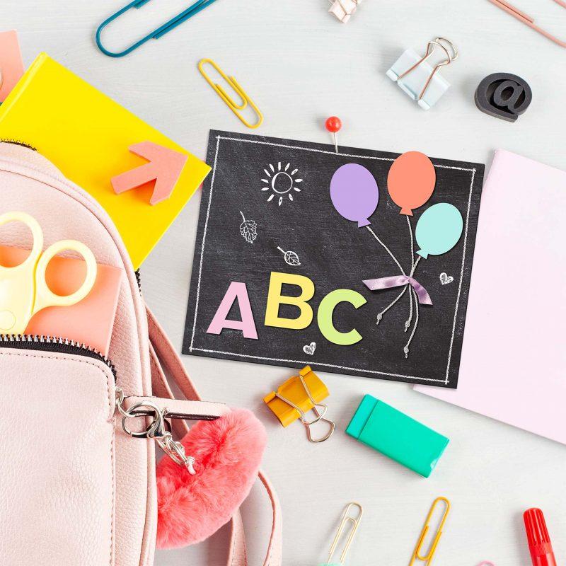 Accessoires für den Schulanfang