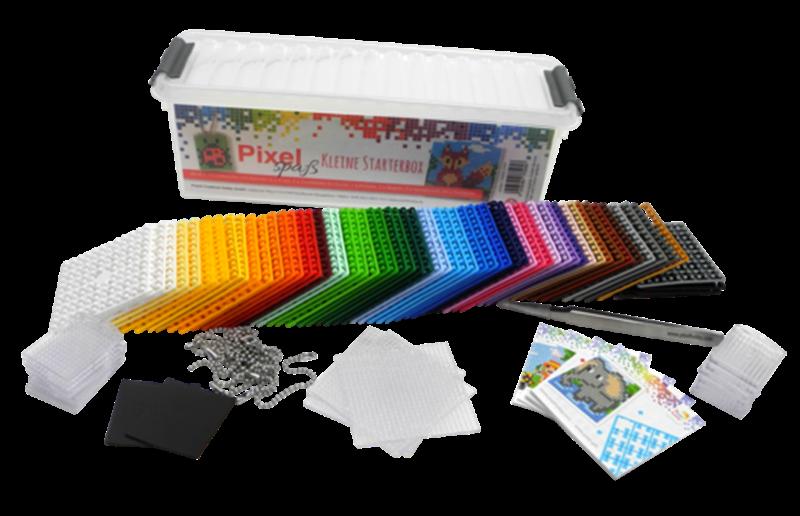 Pixelplatten in bunten Farben