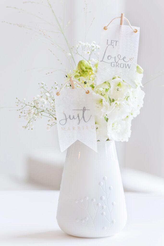 Vase zur Hochzeit