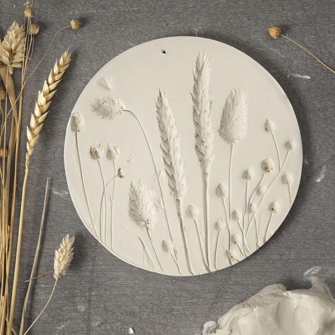 Wandbild mit Gräsern