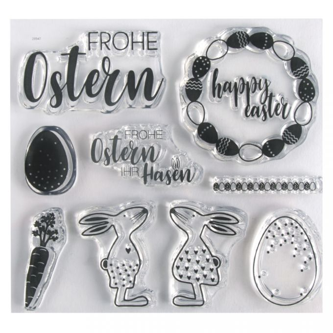 Clear Stamps mit Ostermotiven